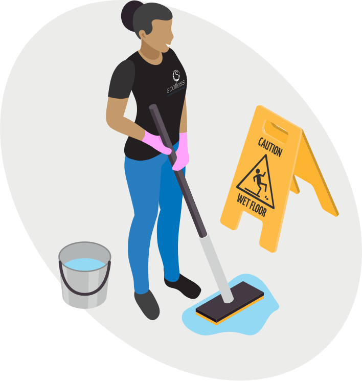 Motivated cleaning staff - Spotless Commercial Cleaning Ltd
