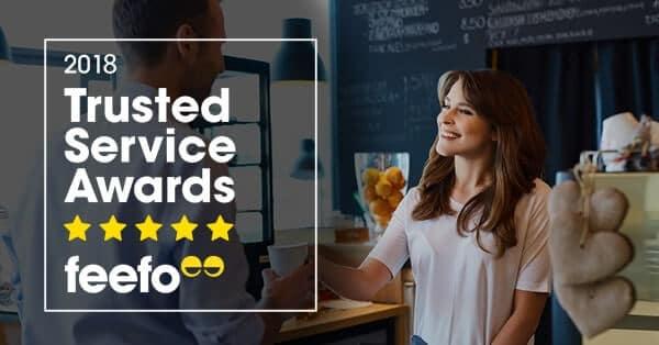 Spotless awarded Feefo trusted service award 2018